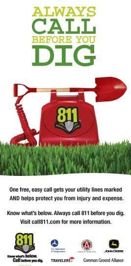 Always dial 811 before you dig